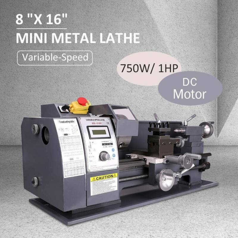 "8x16"" Mini Metal Lathe Automatic Variable-Speed DC Motor 750"