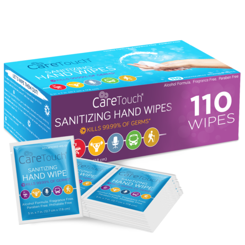 Care Touch Antibacterial Hand Sanitizer Wipes – 110 Indivi