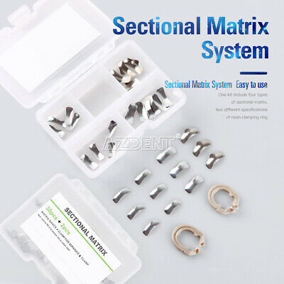 Azdent Dental Metal Sectional Matrix Refill Bands Resin Clamping Separating Ring