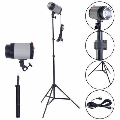 2X160W Photography Studio Lighting Kit Strobe Photo Flash Light Stand Holder