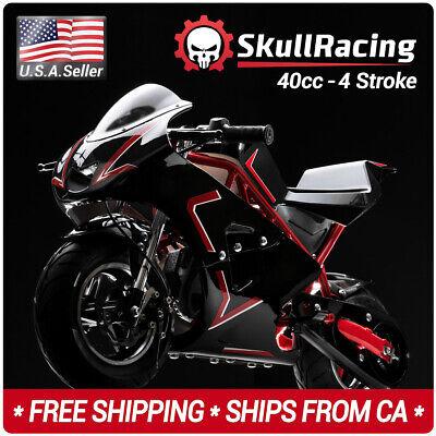 SkullRacing Gas Powered Mini Pocket Bike Motorcycle 40RR (Mini Pocket Bike)