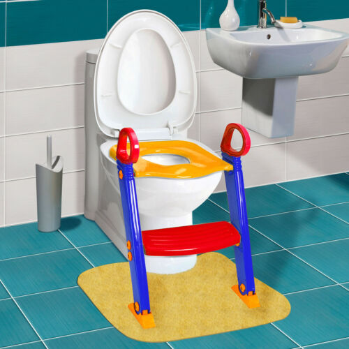 Kids Toilet Potty Trainer Seat Chair Toddler With Ladder Step Up Training Stool