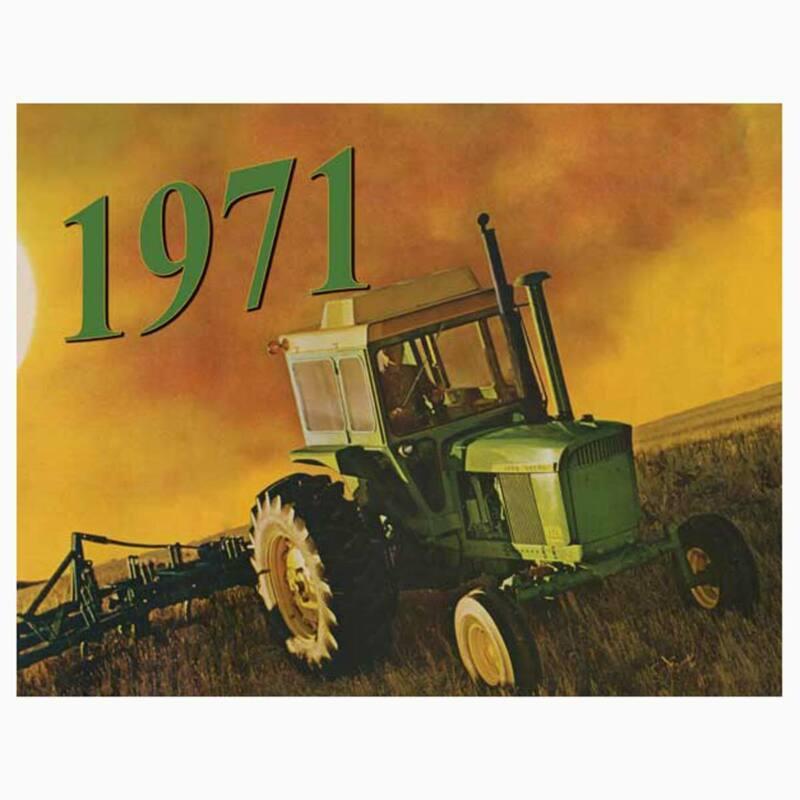 2021 Vintage John Deere 12 Month Calendar Featuring 1971 year of Restored Deere