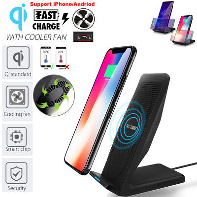 Qi Wireless Fast Charger Charging Stand Dock For Samsung Galaxy Note8 iPhone X