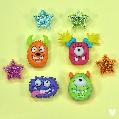 Dress It Up Buttons Monster Mash 10114 - Halloween Pumpkin Cat Monster Stars - Button Mash Halloween