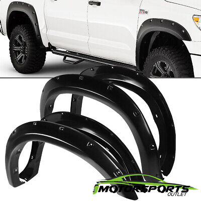 FIT 2007-2013 Toyota Tundra Pocket Style ABS Shinny Black Fender Flares