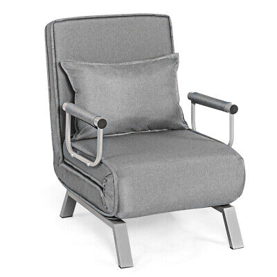 Topbuy Sofa Bed Folding Arm Chair Sleeper Recliner Full Padded Lounger Couch