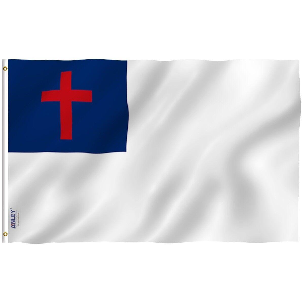 ANLEY Christian Church Flag Latin Cross Banner Polyester 3x5