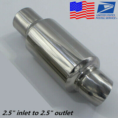 Car Exhaust Pipe Muffler Tip Resonator Anti Break Sound Silencer 25In 25Out