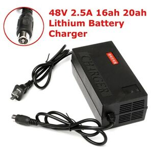 Electric Bike 48V 2.5A 16ah 20ah Lifepo4 Lithium Battery Charger E-bike Scooter
