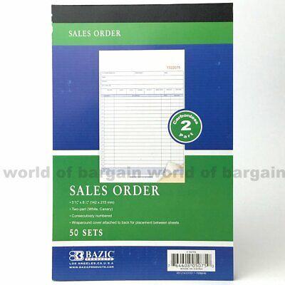 2 Part Sales Order - SALES ORDER Book 50 Sets 2 Part Purchase Receipt CARBONLESS Duplicate Copy C080