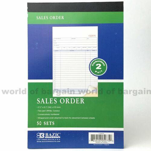 SALES ORDER Book 50 Sets 2 Part Purchase Receipt CARBONLESS Duplicate Copy C080
