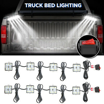 8pc Truck Bed White Led Lighting Light Kit For Chevy Dodge Pickup GMC  ~