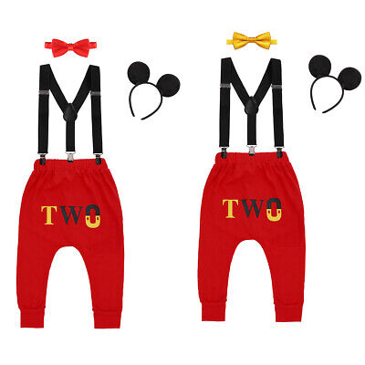 Mickey Mouse 2nd Birthday Cake Smash Outfits for Baby Boys Cosplay Photography - Mickey Mouse Outfits For Boys