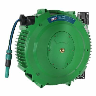 Sealey RGH18 Retractable Garden Water Hose Reel 18mtr 12mm ID PVC Hose