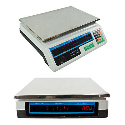 Digital Scale 60LB Food Meat Computing Counting Weight Deli Price Produce Market