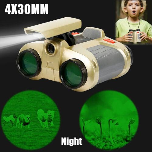 Night Vision Surveillance Scope Binoculars Telescope Pop-Up Light Kids Toy Gift