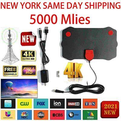 5000 Miles Range TV Antenna Digital HD Antena Indoor HDTV 1080P 4K 13ft Cable
