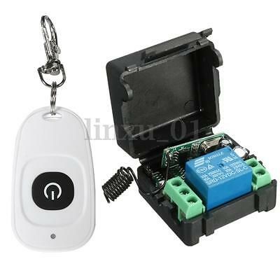 New DC 12v 10A Relay Wireless RF Remote Control Switch Transmitter + Receiver US