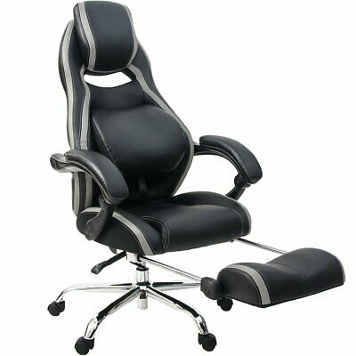 Office Gaming Chair Racing Pu Leather Swivel Computer Vedio High Back Desk Seat