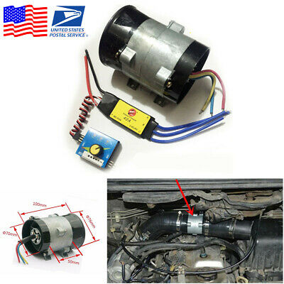 12V 16.5A Car Electric Turbine Turbo Fan Turbo Charger Tan Boost Intake Fans ESC