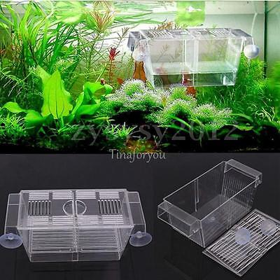 LARGE 4 in1 Aquarium Tank Floating Fish Hatchery Trap Fry Breeding Isolation Box