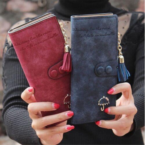 Women's Leather Wallet Clutch Purse Lady Fashion Long Card H