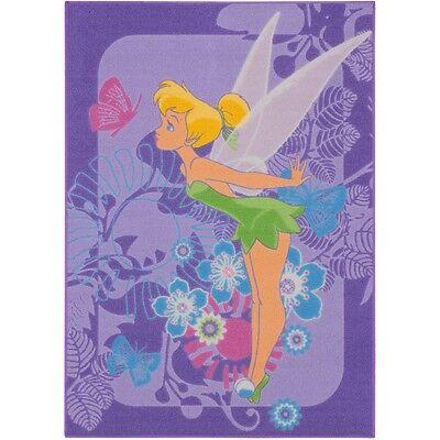 Teppich Kinderteppich Tinkerbell Tropical Teppich Spielteppich 95x133 cm in lila
