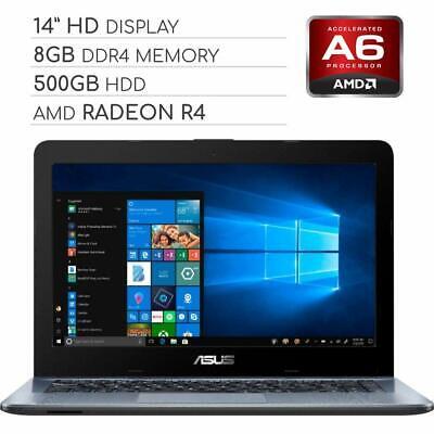 ASUS Vivobook 2019 Premium 14 HD Non-Touch Laptop Notebook Computer 2-Core AM...