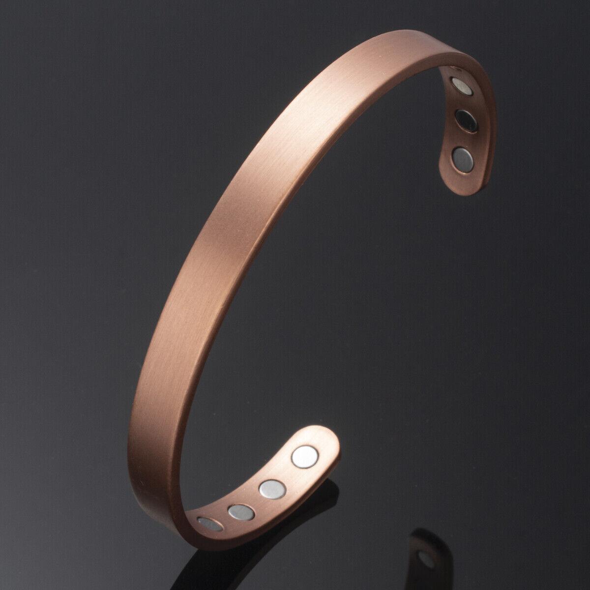 Damen Herren Magnet Armreif Kupfer Armband Armschmuck 17-20cm