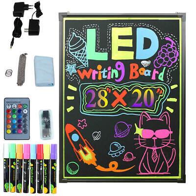 Flashing Illuminated Erasable Led Neon Sign Message Menu Writing Board W Remote