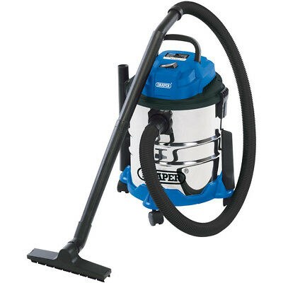 Wet and Dry Vacuum Vac Cleaner Industrial 20ltr 1250w 230v StainlessSteel Draper