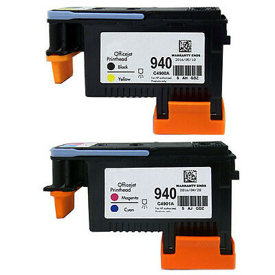 940 Print Head Black/Yellow C4900A & Cyan/Magenta C4901A for HP 8000 8500