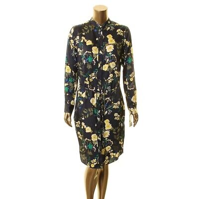 LAUREN RALPH LAUREN NEW Women's Floral Print Collared Belted Shirt Dress TEDO