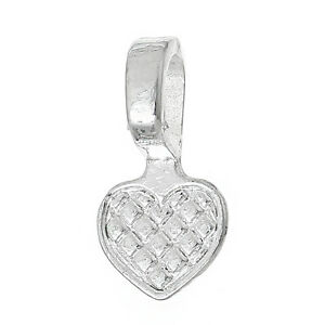20 HEART SHAPED SILVER PLATED GLUE ON BAILS 16MM CABOCHONS PENDANT JEWELLERY DIY
