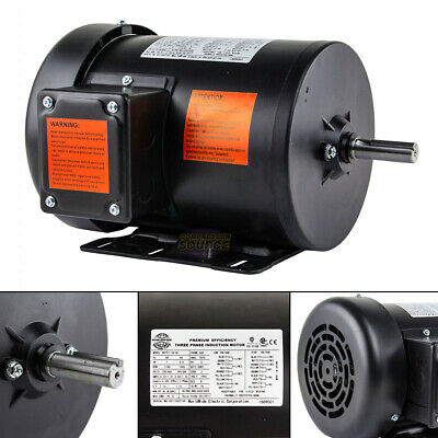 1 Hp Electric Motor 3 Phase Premium Efficiency 56h Frame 1800 Rpm Tefc 230460 V