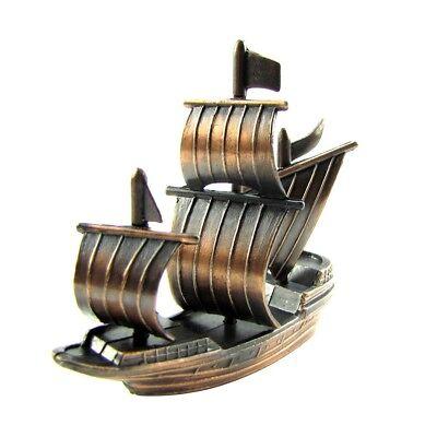 Bronze Metal Spanish Galleon/Pirate Ship/Sail Boat Die Cast Toy Pencil Sharpener