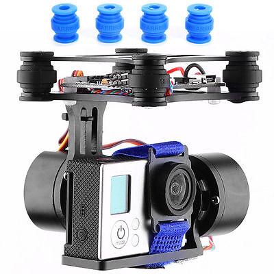 2 Axis Brushless Kamera Gimbal + 2x Motor for DJI Phantom Gopro3 FPV PTZ RC007