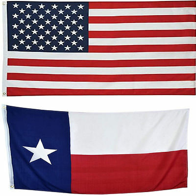 5' X 8' 5x8 USA Flag American flag Texas State Flag WHOLESALE LOT usa SHIPPER