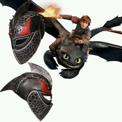 Dragon Mask (Toothless Hiccup Cosplay Helmet Costume Mask How to Train Ur Dragon Props)