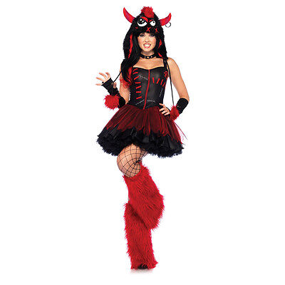 Rebel Monster 3 Piece Sexy Adult Costume Rave Party Wear Leg Avenue 85163