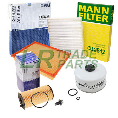 LAND ROVER DISCOVERY 3 2.7 TDV6 OEM SERVICE FILTER KIT, OIL, FUEL, AIR, MY 2007+