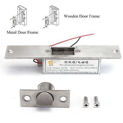 12v 110-250ma Fail Safe Nc Cathode Electric Strike Lock For Access Control Door