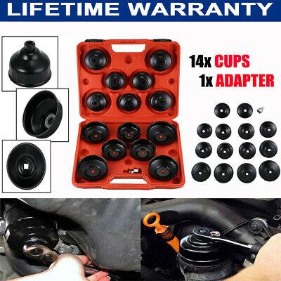 16pcs/set Cap Type Aluminium Oil Filter Wrench Removal Socket Remover Tool Kit E