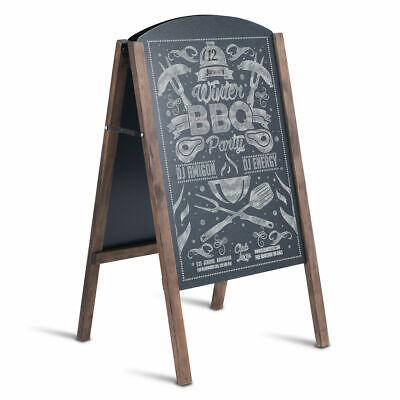 """31.5"""" Wood A-Frame Chalkboard Menu Sign Board Sidewalk Weddi"""
