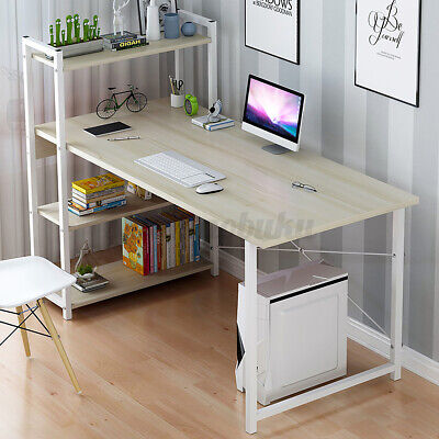 Computer Desk Table Laptop Display 4 Tier Bookshelf Study Writing Home Office ♪