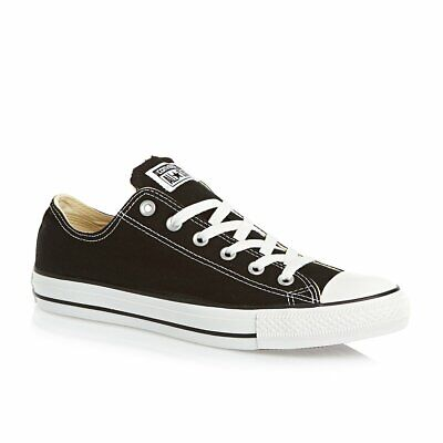 Converse All Star ox Canvas Womens Trainers Shoes Black White Size 5...