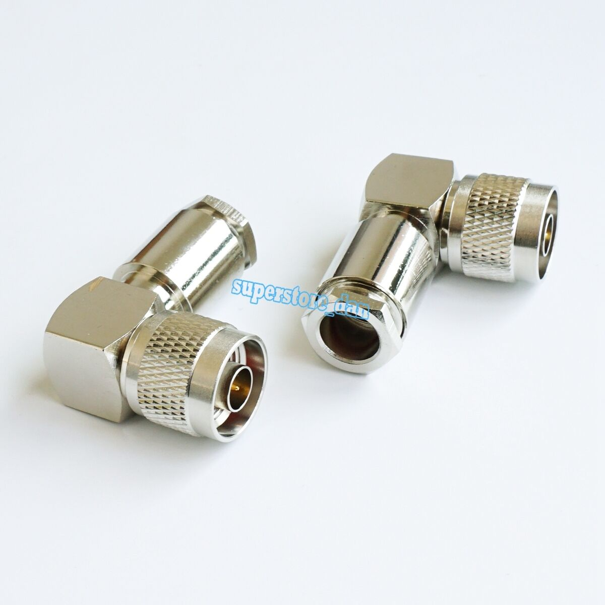 2x UHF Male PL259 Right Angle Clamp RG8 RFC400 RG213 RF Connector Quick USA