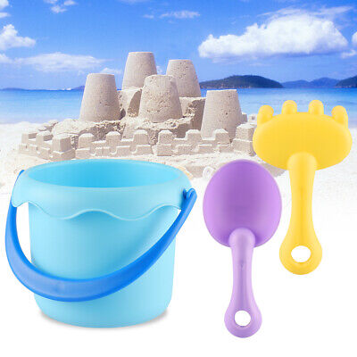 3pcs/Set Beach Toys Set for Kids Toddlers Beach Sand Toy Set Bucket Rake - Sand Bucket