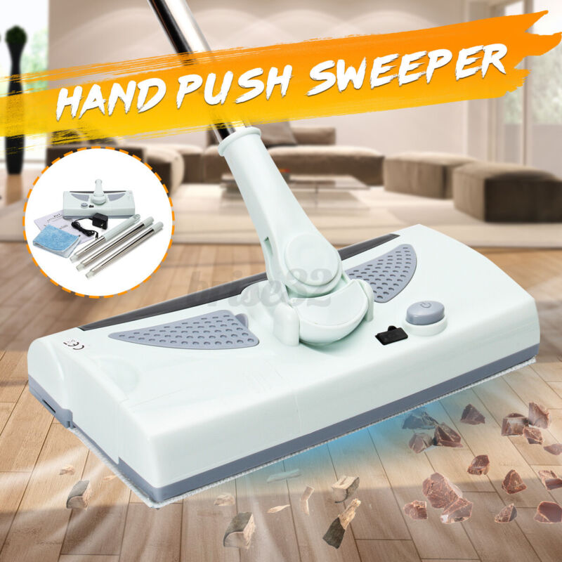 Electric Automatic Hand Push Sweeper 360° Spin Broom Household Cleaning Mop H6